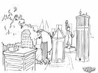 Смотреть онлайн бесплатно Годзилла против Статуи